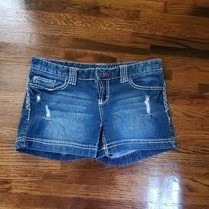 Maurices Denim shorts size 3/4